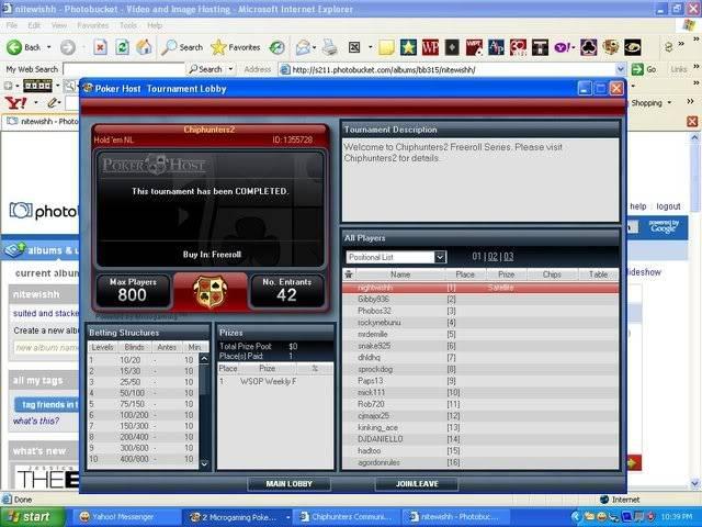 WSOP weekly seat winner at POKERHOST Chiphunters2