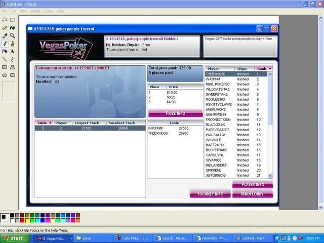 Vegas poker people Freeroll Vegasgame