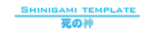 Tesome - Tesome Ogani(Shinigami) [APPROVED 2-1 BASE; 1-1+ IN CRITICAL STATE] Template