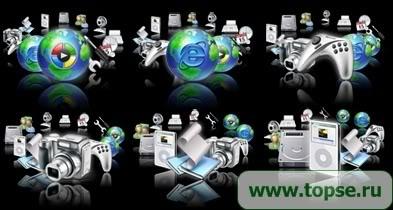 .::Foro Oficial Menu Icons 128x160::. Vista_Menu_3D-1