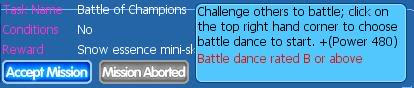 Event Task/Quest Battleofchampions