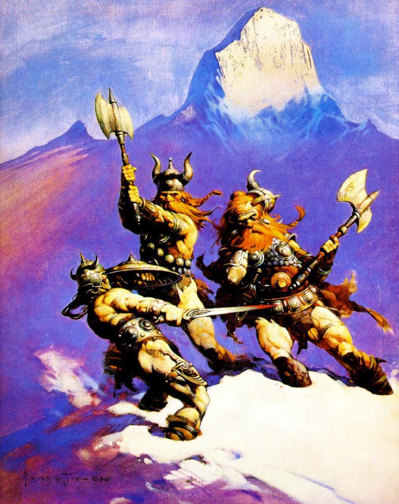Traductions en français : scénario King Conan, interviews... Frank_FrazettaFrost-Giants_Daughter_zps905c3aa7