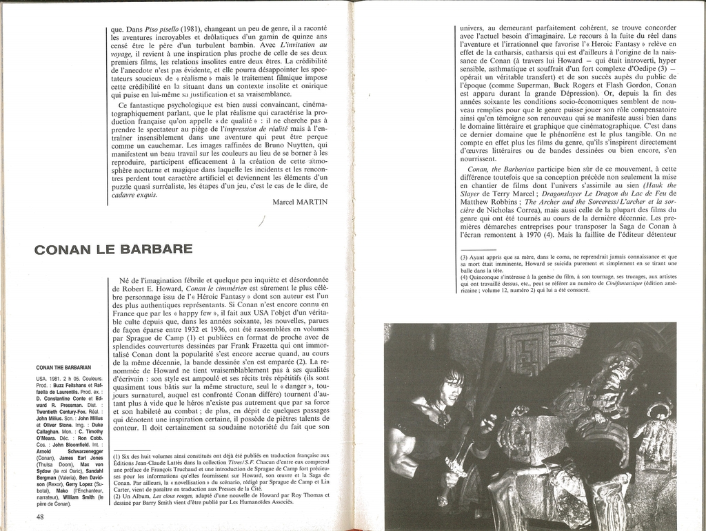 Magazines USA/France Conan le barbare 1982 La%20revue%20du%20cinma%201_zps5nlzt2w8