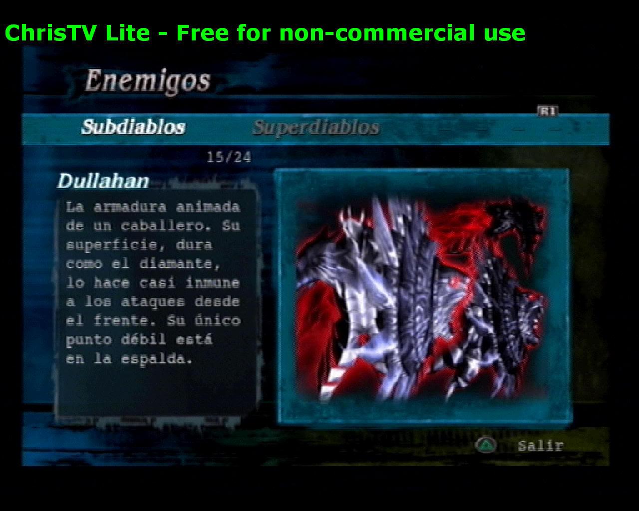 Listado de Subdiablos de Devil May Cry 3 Dullahan