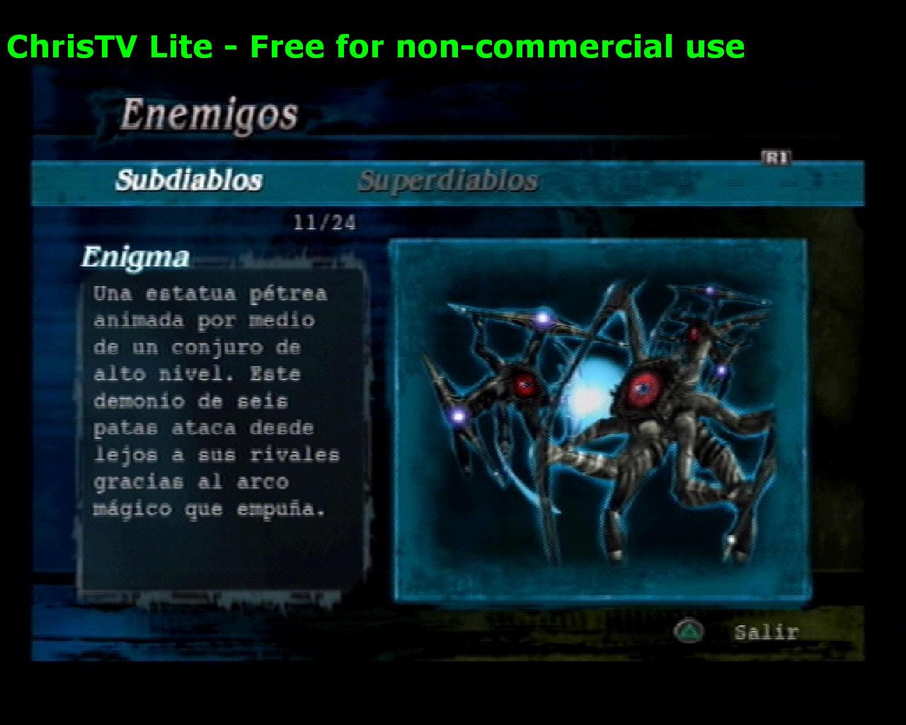 Listado de Subdiablos de Devil May Cry 3 Enigma