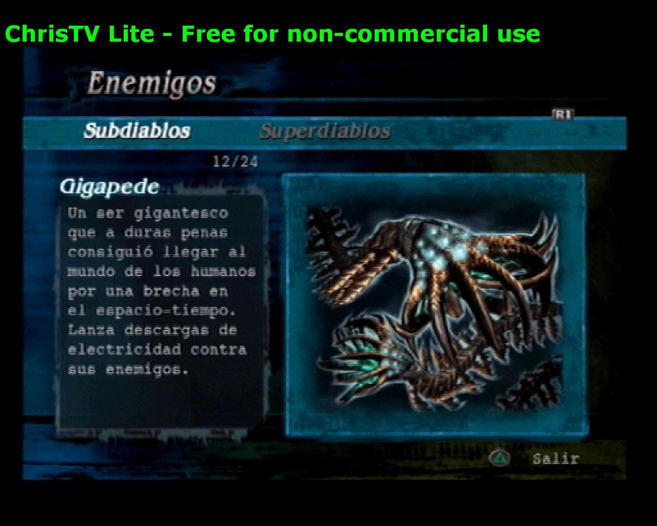 Listado de Subdiablos de Devil May Cry 3 Gigapede