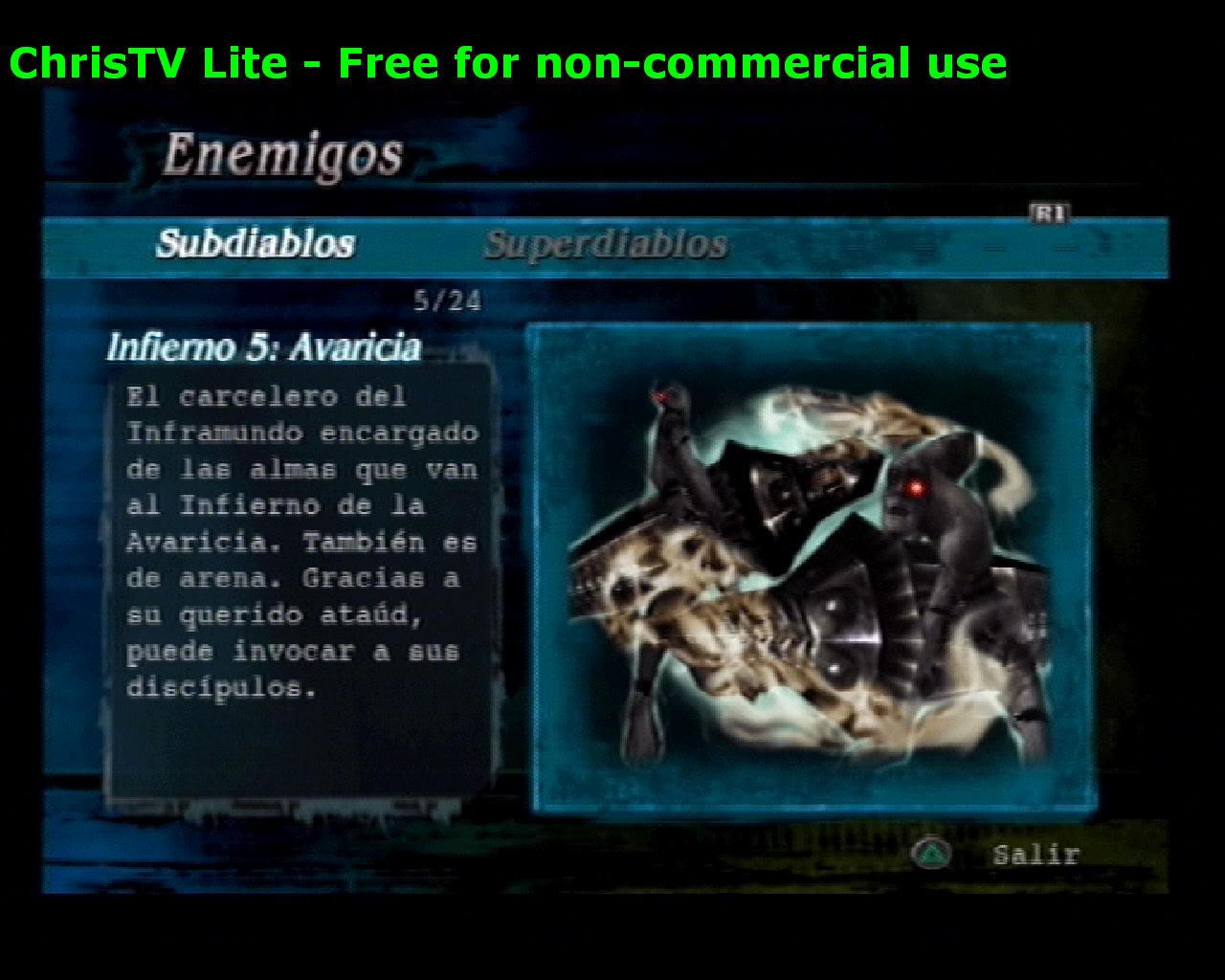 Listado de Subdiablos de Devil May Cry 3 Infierno5Avaricia