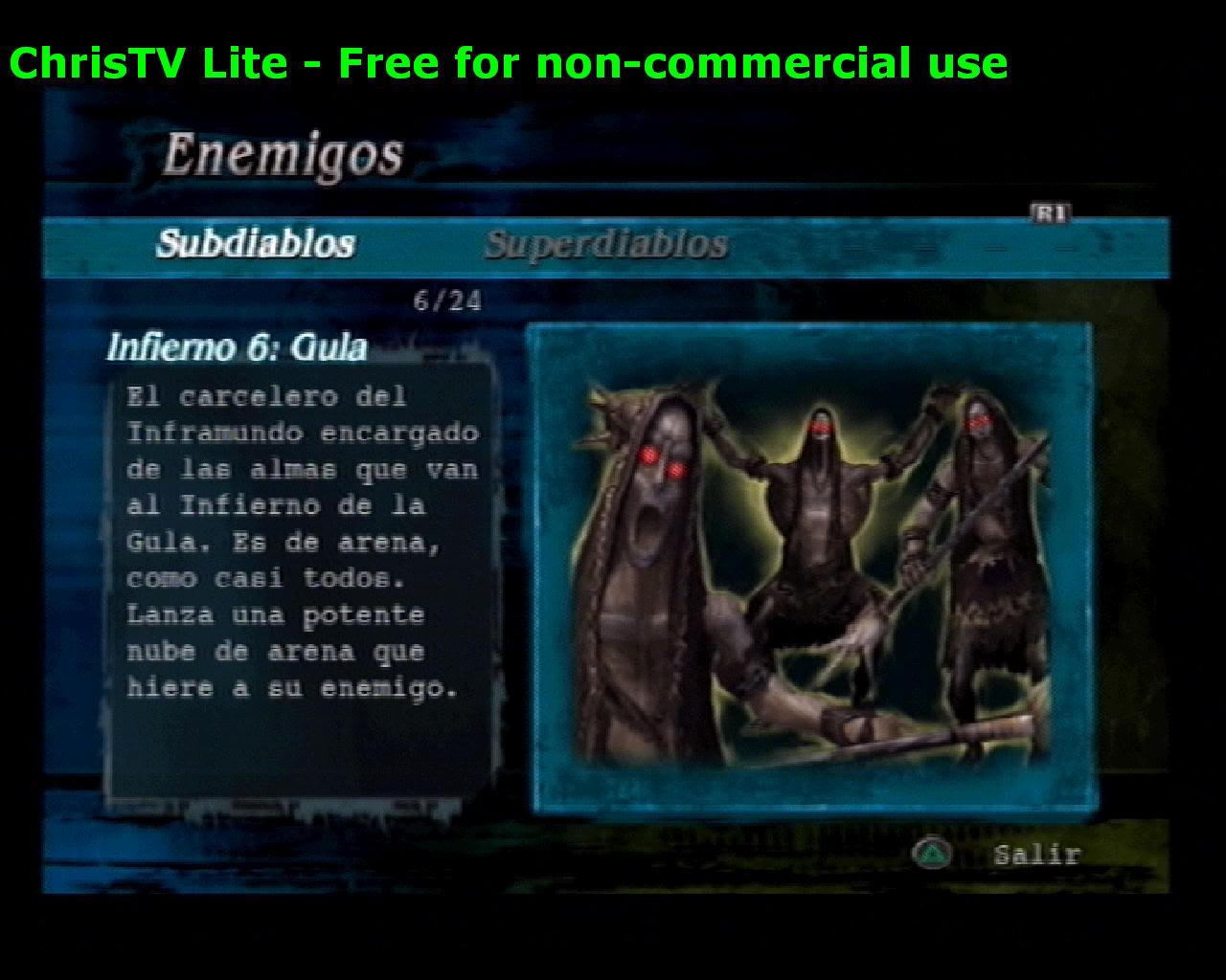 Listado de Subdiablos de Devil May Cry 3 Infierno6Gula