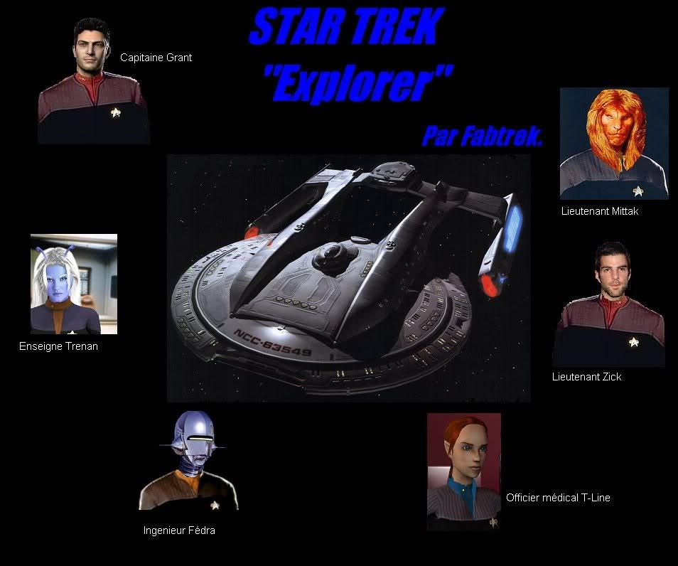 """Star trek """"Explorer"""" AfficheExplorer"""