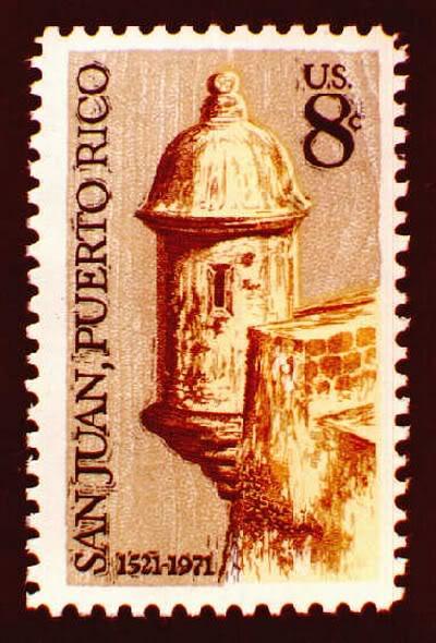 Sellos emitidos por el correo de EU relacionados a PR 010-1