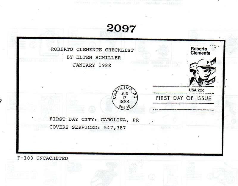 Catalogo FDC de Clemente 2097 001-8