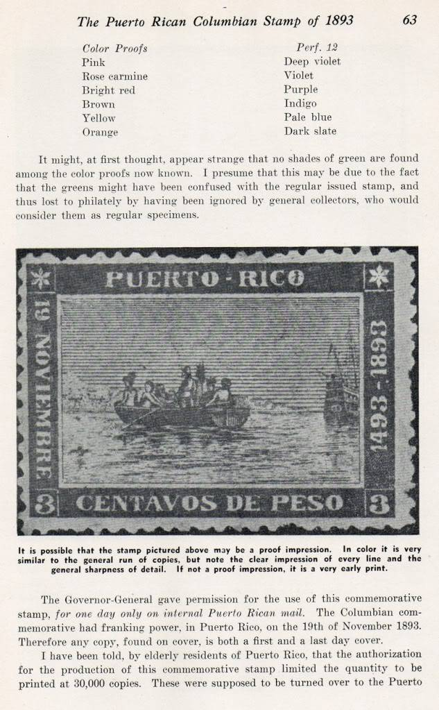The Puerto Rican Columbian Columbian Stamp of 1893 by Preston 003-10