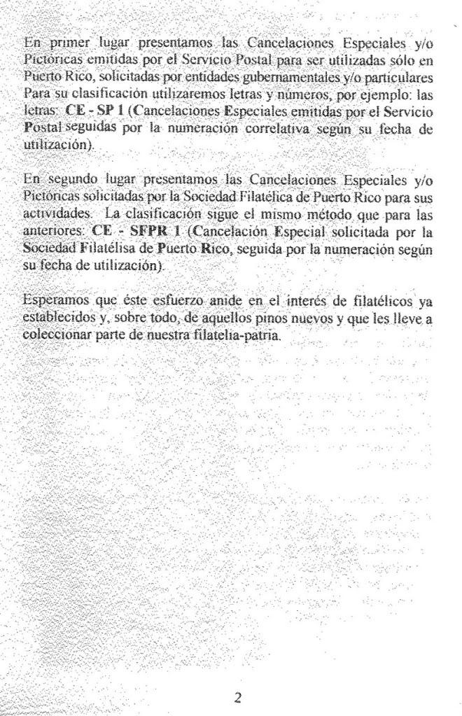 Cancelaciones Especiales de Puerto Rico 1927-2001 003-5