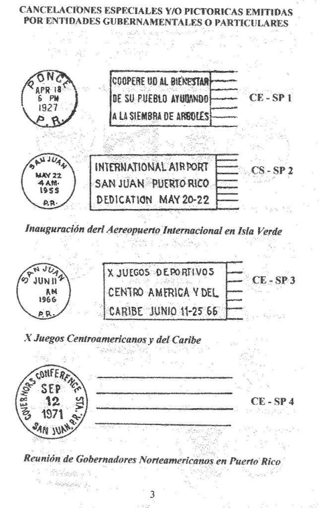 Cancelaciones Especiales de Puerto Rico 1927-2001 004-6