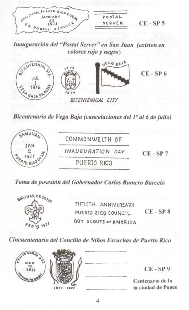 Cancelaciones Especiales de Puerto Rico 1927-2001 005-6