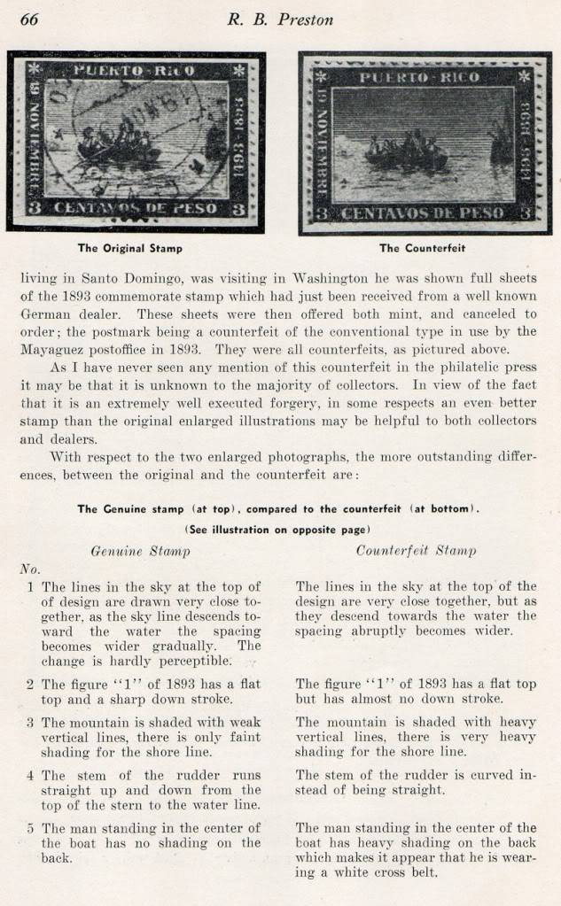 The Puerto Rican Columbian Columbian Stamp of 1893 by Preston 006-9