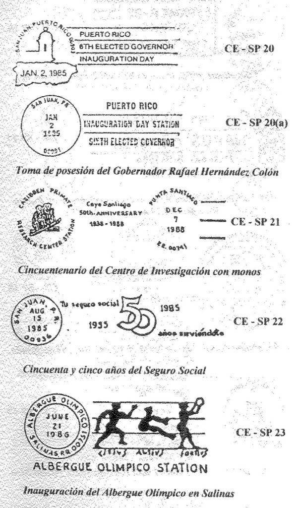 Cancelaciones Especiales de Puerto Rico 1927-2001 009-4