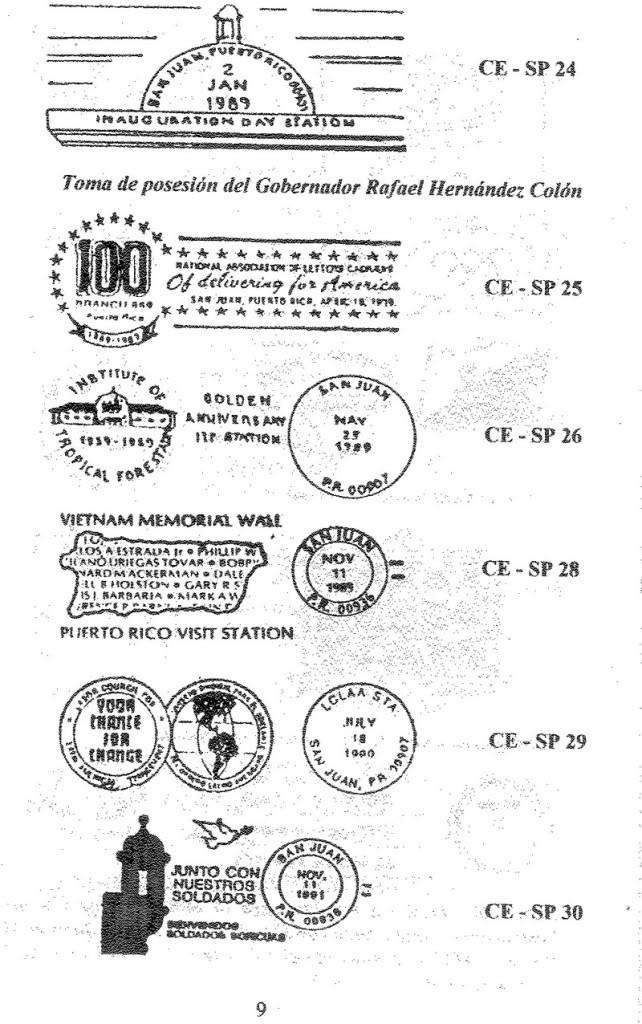 Cancelaciones Especiales de Puerto Rico 1927-2001 010-5