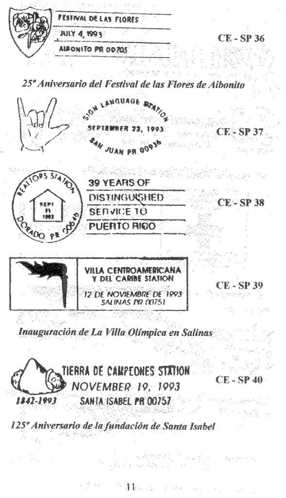 Cancelaciones Especiales de Puerto Rico 1927-2001 012-2