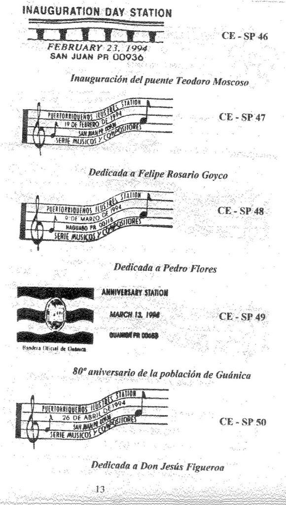 Cancelaciones Especiales de Puerto Rico 1927-2001 014-2