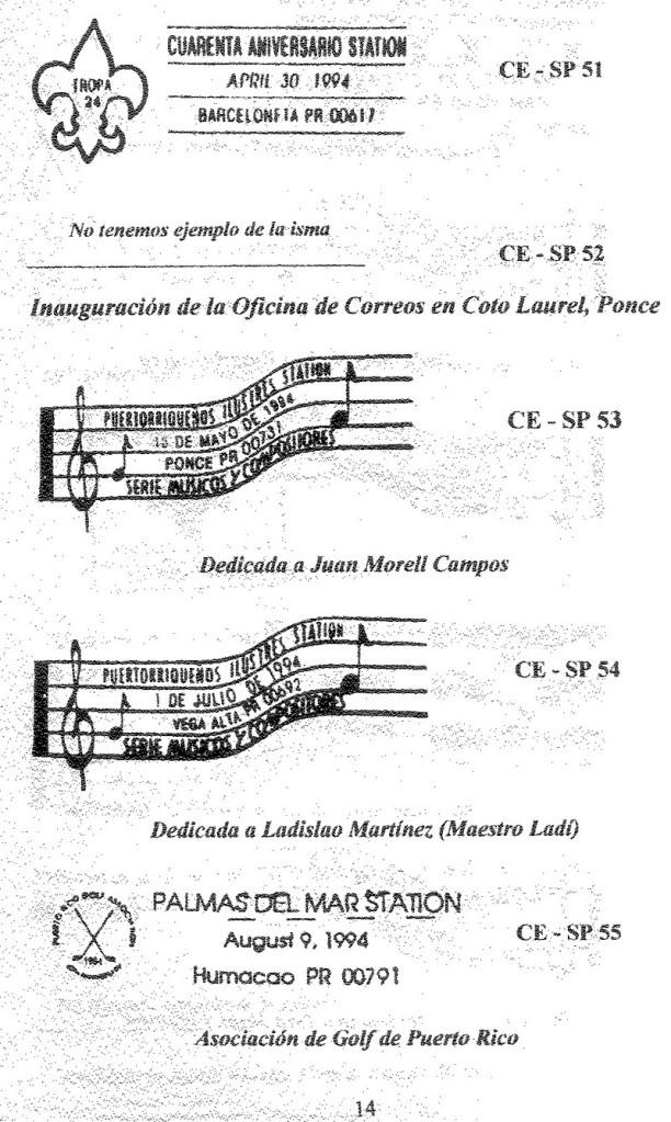 Cancelaciones Especiales de Puerto Rico 1927-2001 015-2