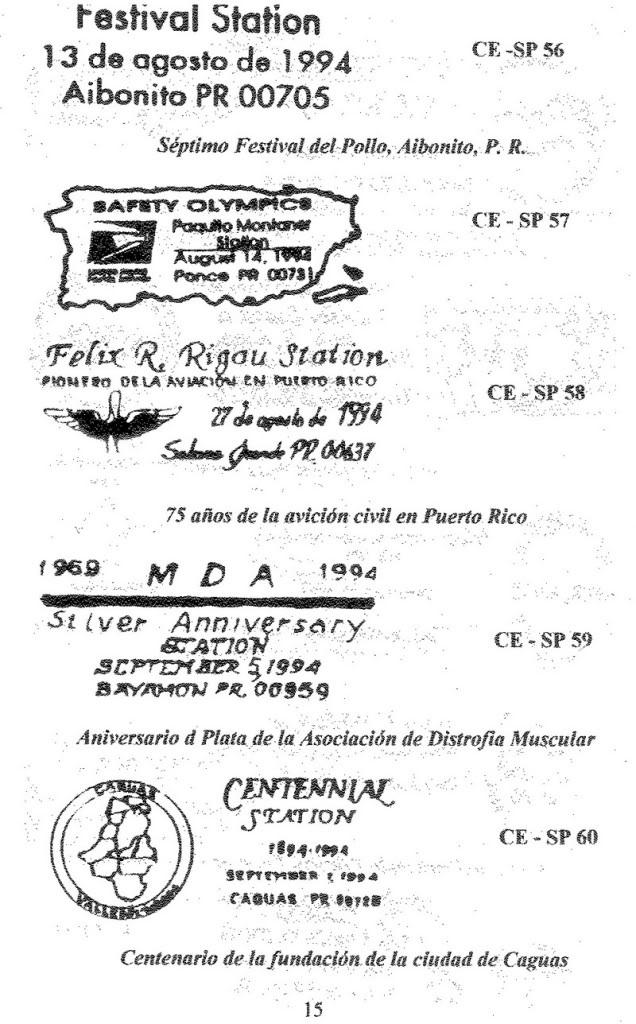 Cancelaciones Especiales de Puerto Rico 1927-2001 016-2