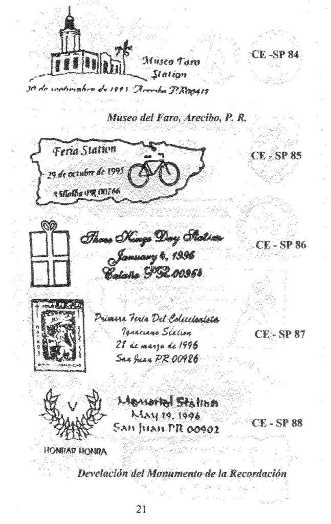 Cancelaciones Especiales de Puerto Rico 1927-2001 022-1