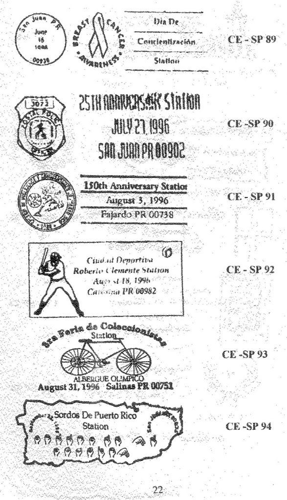 Cancelaciones Especiales de Puerto Rico 1927-2001 023-1