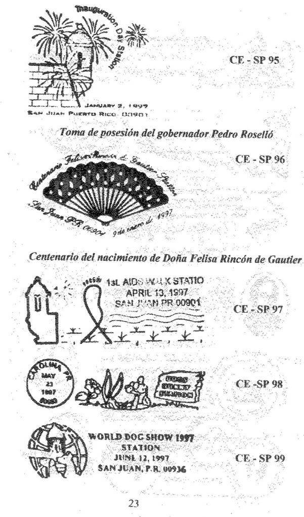 Cancelaciones Especiales de Puerto Rico 1927-2001 024-1