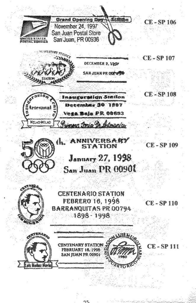 Cancelaciones Especiales de Puerto Rico 1927-2001 026-1