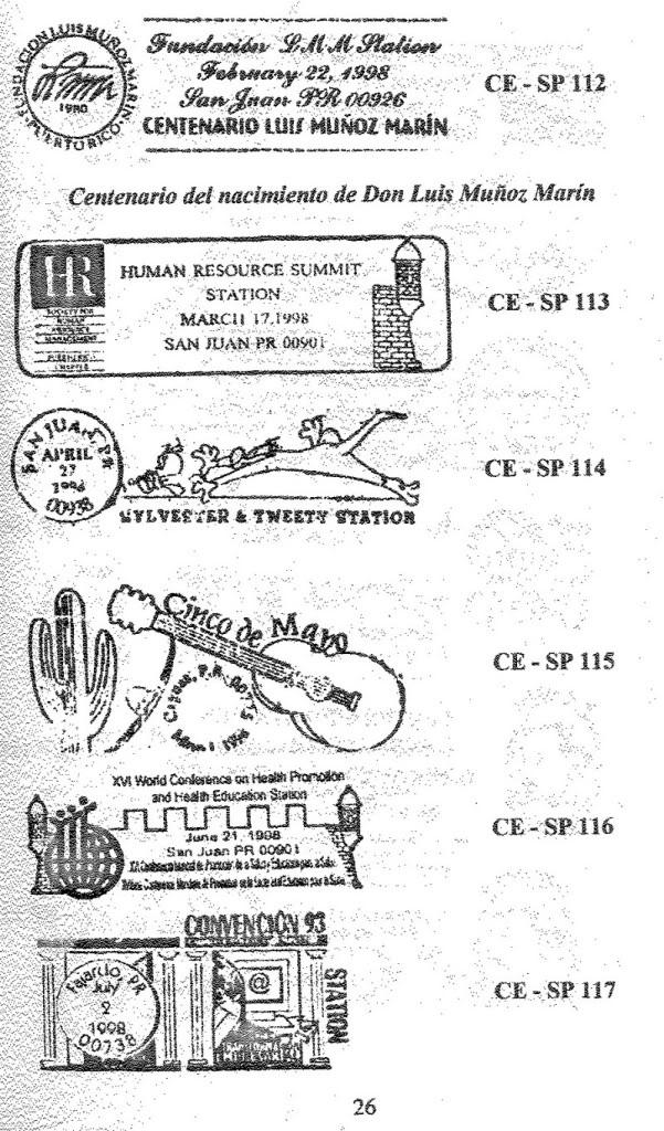 Cancelaciones Especiales de Puerto Rico 1927-2001 027-1