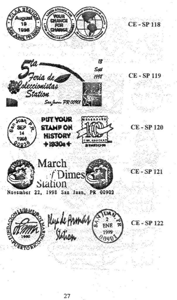 Cancelaciones Especiales de Puerto Rico 1927-2001 028-1