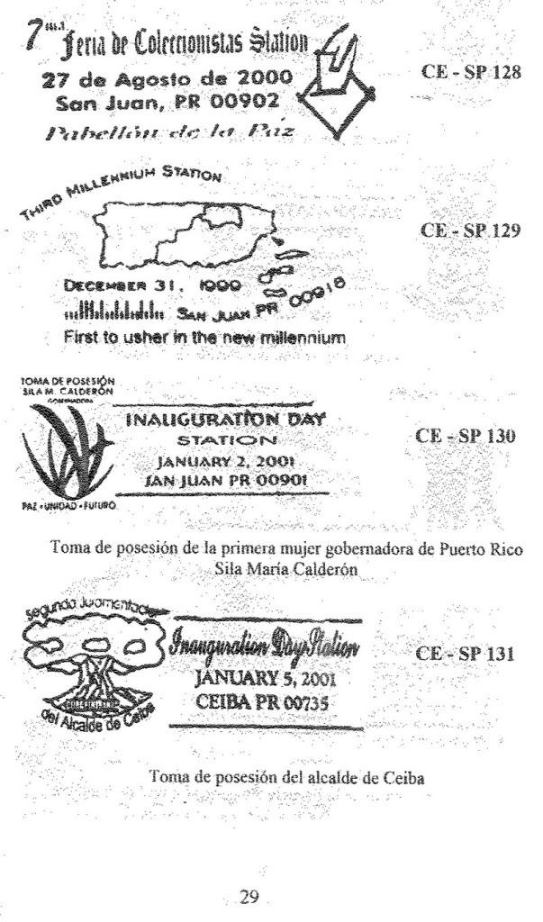 Cancelaciones Especiales de Puerto Rico 1927-2001 030-1