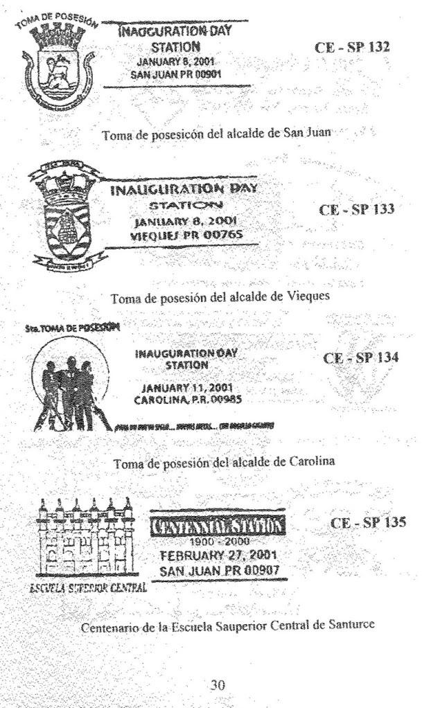 Cancelaciones Especiales de Puerto Rico 1927-2001 031-1