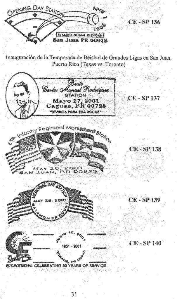Cancelaciones Especiales de Puerto Rico 1927-2001 032-1