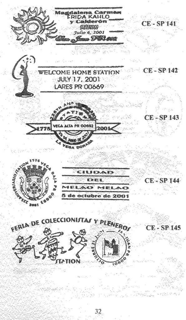 Cancelaciones Especiales de Puerto Rico 1927-2001 033-1