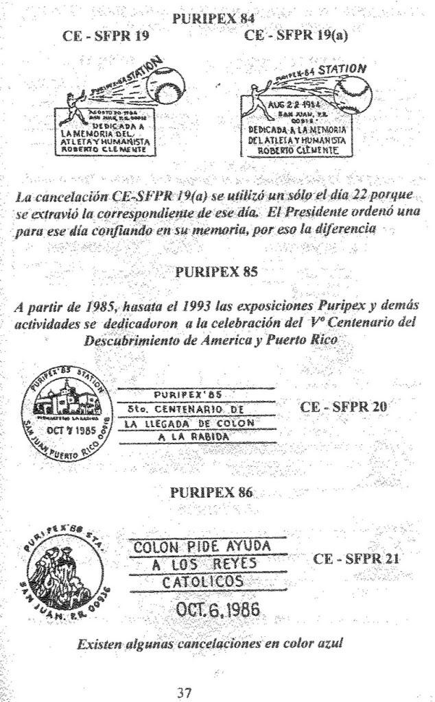 Cancelaciones Especiales de Puerto Rico 1927-2001 038-1