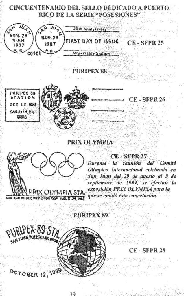 Cancelaciones Especiales de Puerto Rico 1927-2001 040-1