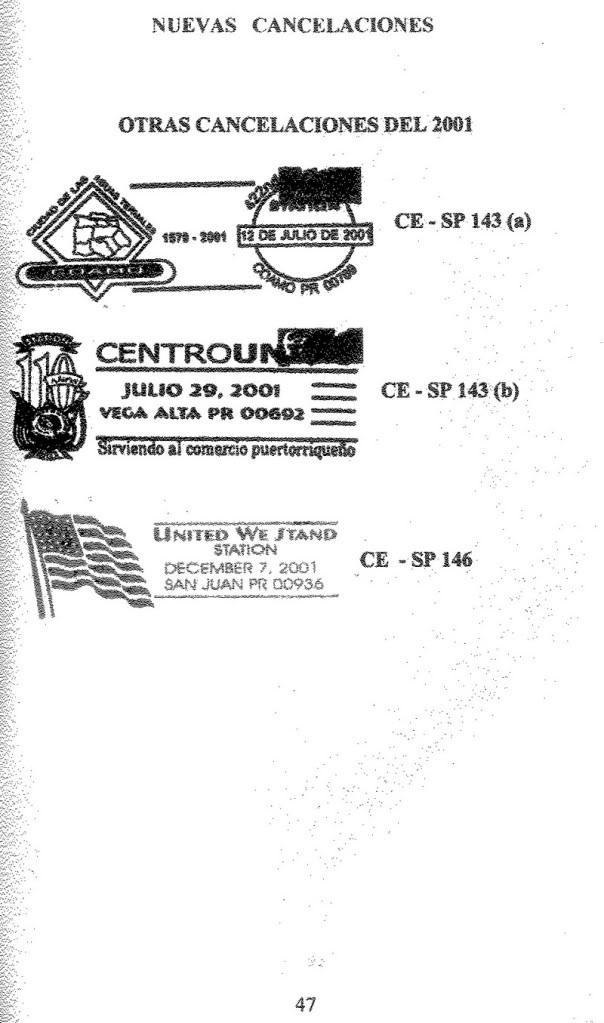 Cancelaciones Especiales de Puerto Rico 1927-2001 048-1