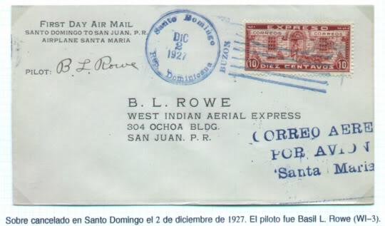 INICIOS DEL CORREO AEREO EN EL CARIBE Y PUERTO RICO 07