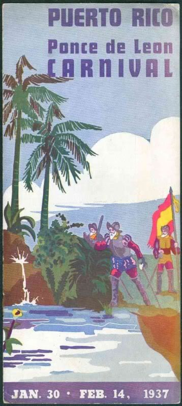 El Carnaval Ponce de Leon 1937 Brochure