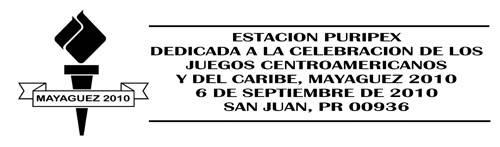 Articulo Puripex 2010 - LOS JUEGOS CENTROAMERICANOS Y DEL CARIBE Cancelador2010cs