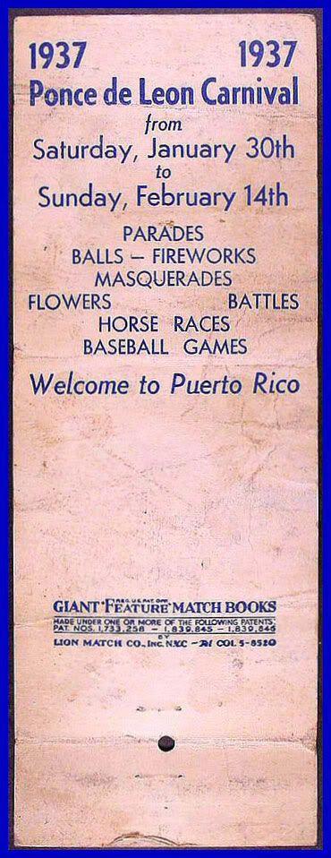 El Carnaval Ponce de Leon 1937 Fosforo2