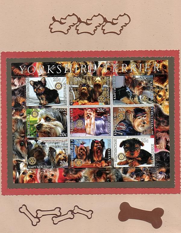 Perros en la filatelia  Yorkies002