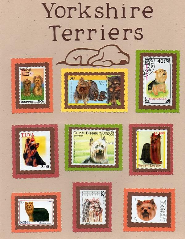 Perros en la filatelia  Yorkies003
