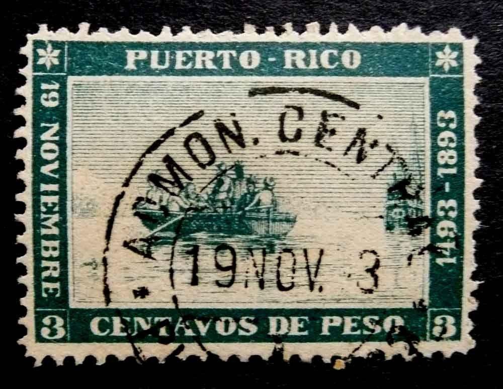 Ventas en ebay noviembre 2013 PUERTORICO1893LANDINGOFCOLUMBUSVFUSEDSCOTT13344