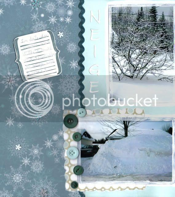 Thème d'hiver Neige