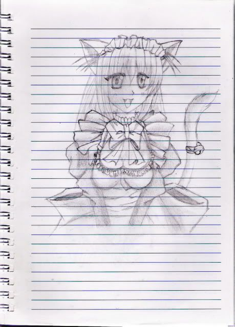 Desenhos a Carvão - Página 11 Maidcatgirl