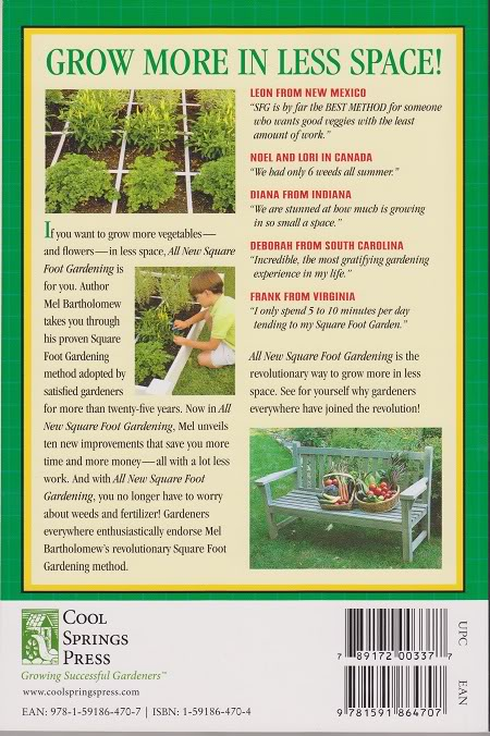 Counterfit New Square Foot Gardening Book? Back