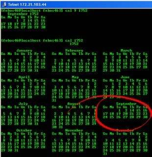 A Touch of History Unix2Bcalander